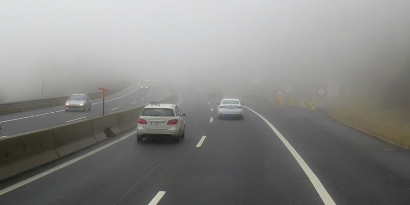 niebla densa en concucción