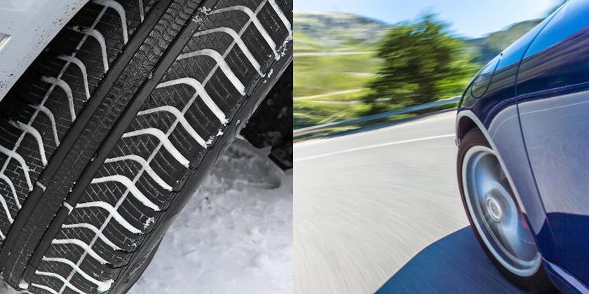 neumático de invierno vs neumático de verano